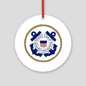 USCG-Logo-3-Chief Round Ornament