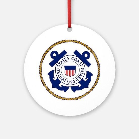USCG-Logo-3-Chief.gif Round Ornament
