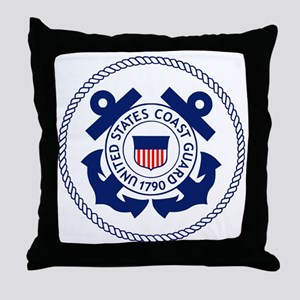 USCG-Logo-3-Enlisted-X Throw Pillow