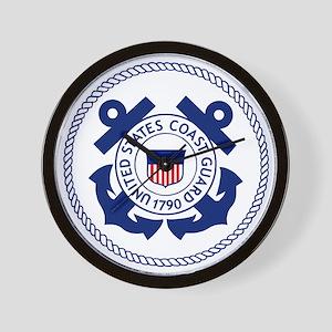 USCG-Logo-3-Enlisted-X Wall Clock