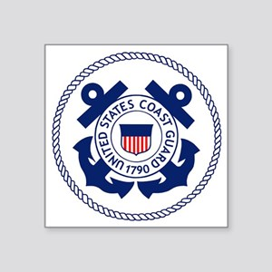 "USCG-Logo-3-Enlisted-X Square Sticker 3"" x 3"""