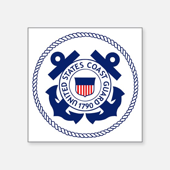 "USCG-Logo-3-Enlisted-X.gif Square Sticker 3"" x 3"""