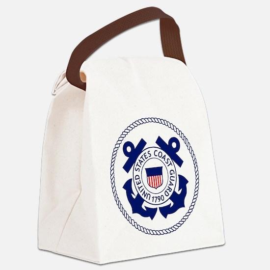 USCG-Logo-3-Enlisted-X.gif Canvas Lunch Bag