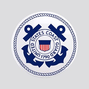 "USCG-Logo-3-Enlisted-X 3.5"" Button"