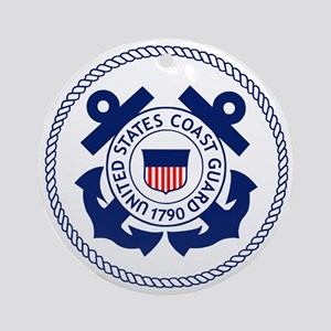 USCG-Logo-3-Enlisted-X Round Ornament