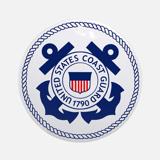 USCG-Logo-3-Enlisted-X.gif Round Ornament