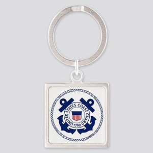 USCG-Logo-3-Enlisted-X Square Keychain