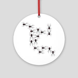 Creepy Crawly Spiders Ornament (Round)
