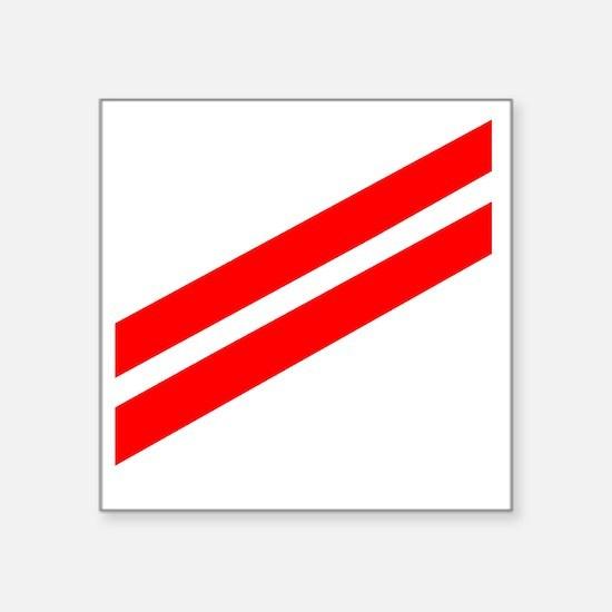 "Navy-FA-Whites.gif Square Sticker 3"" x 3"""