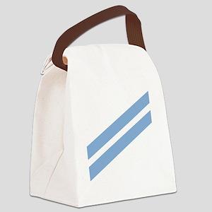 Navy-CA-Tile-2 Canvas Lunch Bag