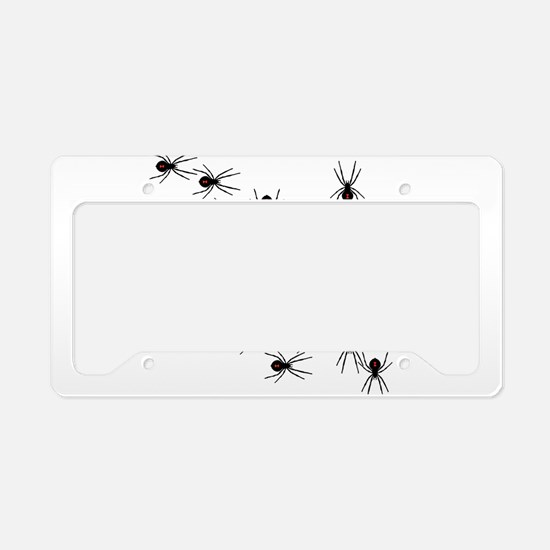 Creepy Crawly Spiders License Plate Holder
