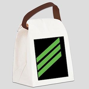 Navy-AN-Sticker-X Canvas Lunch Bag