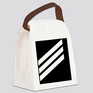 Navy-SN-Sticker-X Canvas Lunch Bag