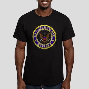 USNR-Retired-Bonnie.gi Men's Fitted T-Shirt (dark)