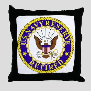 USNR-Retired-Bonnie Throw Pillow