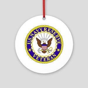 USNR-Veteran-Bonnie Round Ornament