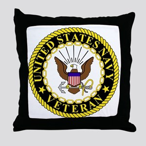 Navy-Veteran-Bonnie-2 Throw Pillow