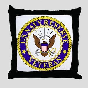 USNR-Veteran-Bonnie Throw Pillow