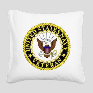Navy-Veteran-Bonnie-2 Square Canvas Pillow