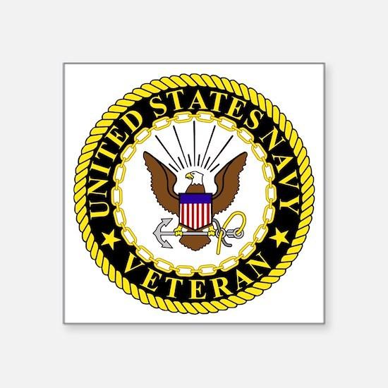 "Navy-Veteran-Bonnie-2.gif Square Sticker 3"" x 3"""