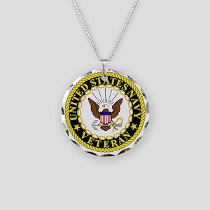 Navy-Veteran-Bonnie-2 Necklace Circle Charm