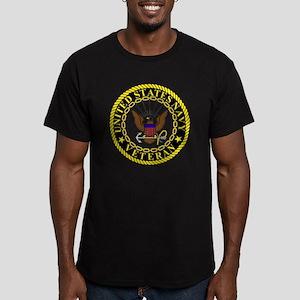 Navy-Veteran-Bonnie-2. Men's Fitted T-Shirt (dark)