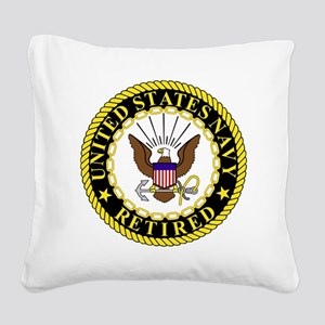 Navy-Retired-Bonnie-2 Square Canvas Pillow