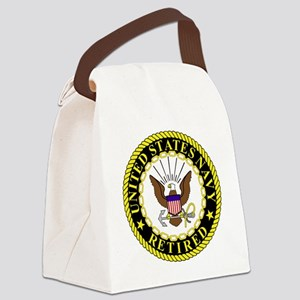Navy-Retired-Bonnie-2 Canvas Lunch Bag