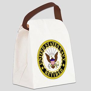 Navy-Retired-Bonnie-2 Canvas Lunch Bag