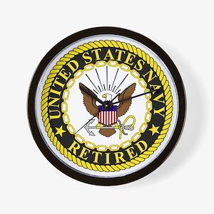 Navy-Retired-Bonnie-2.gif Wall Clock