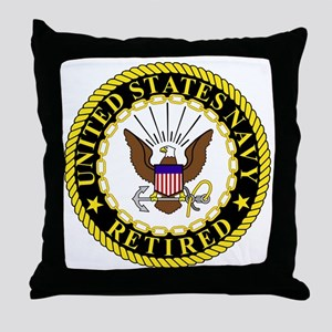 Navy-Retired-Bonnie-2 Throw Pillow