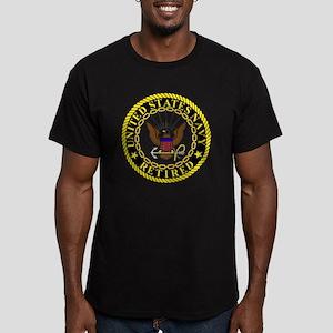 Navy-Retired-Bonnie-2. Men's Fitted T-Shirt (dark)