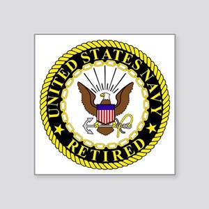"Navy-Retired-Bonnie-2 Square Sticker 3"" x 3"""