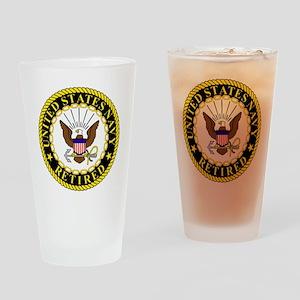 Navy-Retired-Bonnie-2 Drinking Glass