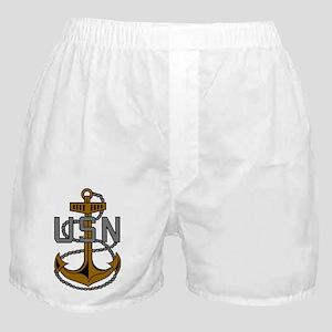 Navy-CPO-Anchor-Subdued Boxer Shorts