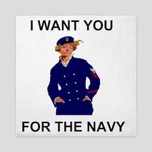 Navy-Humor-I-Want-Lady-CPO Queen Duvet