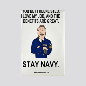 Navy-Humor-You-Bet-Male-CPO-Poste Rectangle Magnet