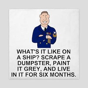 Navy-Humor-Life-On-A-Ship-E7 Queen Duvet