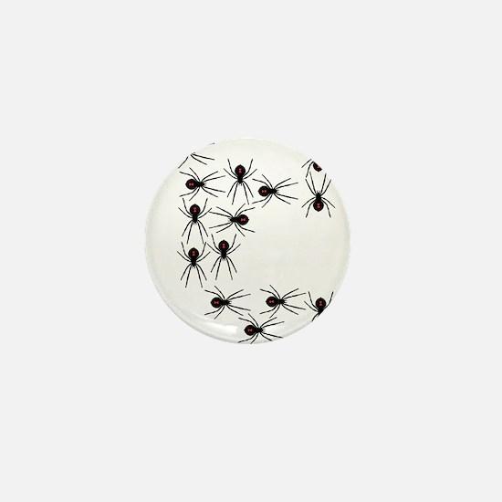 Creepy Crawly Spiders Mini Button