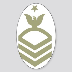 Navy-SCPO-Black-Shirt-G Sticker (Oval)