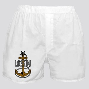 Navy-SCPO-Anchor-Subdued Boxer Shorts