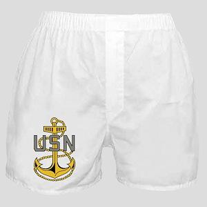 Navy-CPO-Anchor-Bonnie-X Boxer Shorts