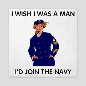 Navy-Humor-I-Wish-SCPO Queen Duvet