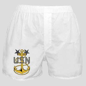 Navy-MCPO-Anchor-Bonnie-X Boxer Shorts