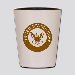 Navy-Logo-13-Brown Shot Glass