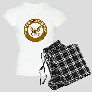 Navy-Logo-13-Brown Women's Light Pajamas