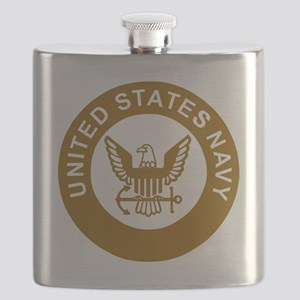 Navy-Logo-13-Brown Flask