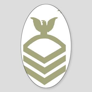 Navy-MCPO-Black-Shirt-O Sticker (Oval)