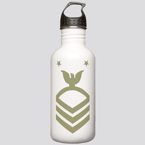 Navy-MCPO-Black-Shirt- Stainless Water Bottle 1.0L