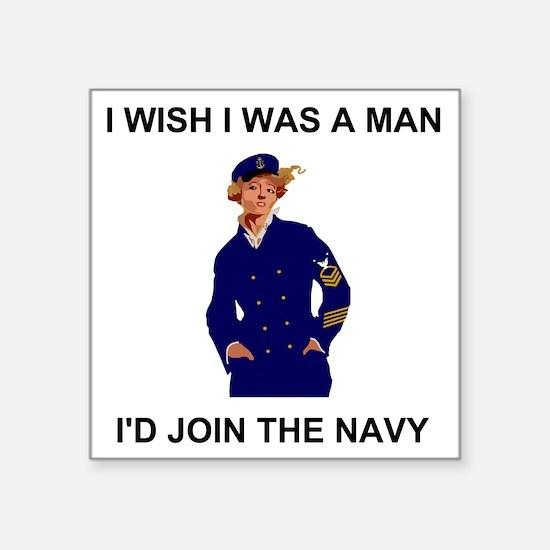 "Navy-Humor-I-Wish-MCPO.gif Square Sticker 3"" x 3"""